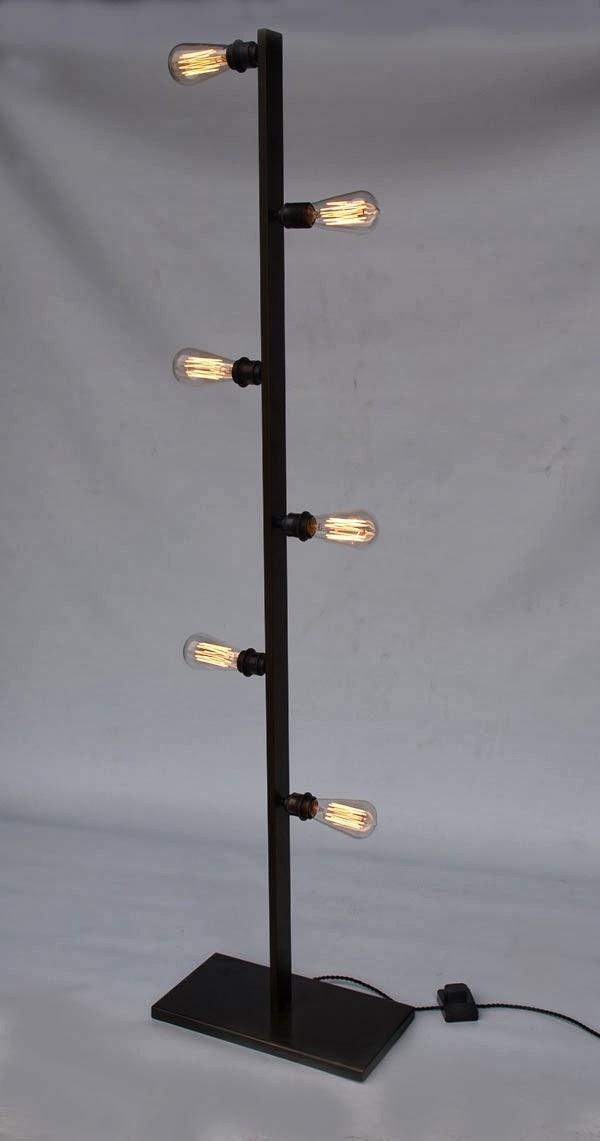 Estilo industrial descuento en l mparas el desv n de - Como hacer una lampara de pie artesanal ...